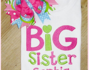 Big Sister, Big Sister Sibling Shir t personalized with name, New Baby ...