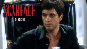 "Say hello to my little friend""- Tony Montana, Scarface."
