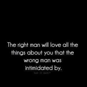 got the right man!