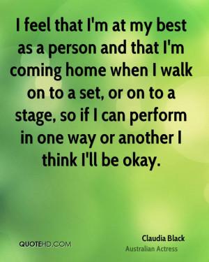 Claudia Black Home Quotes
