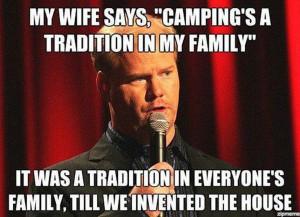 Jim Gaffigan Camping