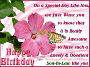 ... wishes for son-in-law – Happy Birthday Son Quotes, Pictures Messages