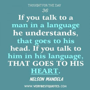 Talking quotes communication quotes nelson mandela quotes language ...