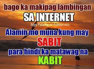 Kabit Quotes : Wag maglambing sa internet alamin kung may sabit baka ...