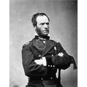 General William Sherman (Portrait) Art Poster Print - 13x19