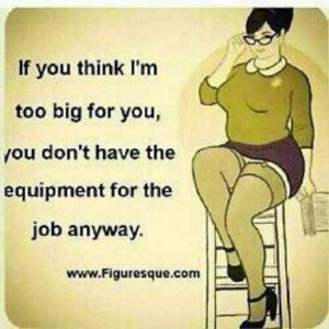 Hahahaha only a real man can handle a thick woman