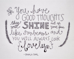 Roald Dahl Quote | CUSTOM LETTERING