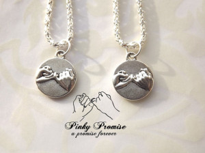 Best Friends Necklaces - His Hers Couples Necklace - Pinky Promise ...