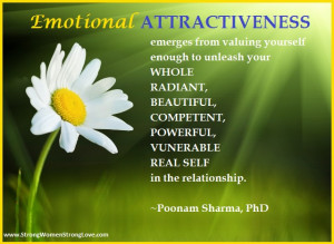 ... emotional attractiveness is the real key to being desired by your