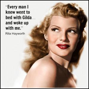 Movie Actor Quote - Rita Hayworth - Film Actor Quote #ritahayworth ...