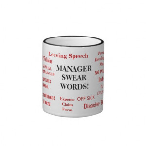 MANAGER SWEAR WORDS! Rude and Funny Office Mug