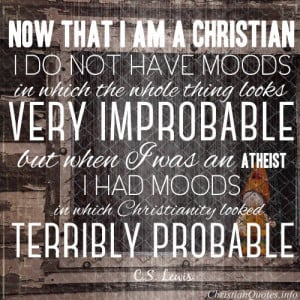 Lewis Quote – When I Was an Atheist