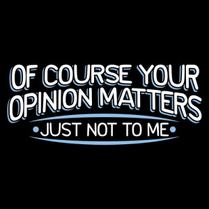 OF COURSE YOUR OPINION MATTERS, JUST NOT TO ME T-SHIRT