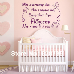Baby Girl Quotes For Nursery Nursery decor baby girl