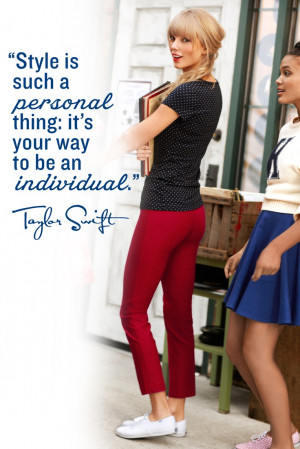 Style is such a personal thing; it's your way to be an individual ...
