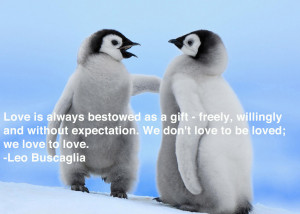 ... Penguin Day, here are our favorite love quotes presented by these