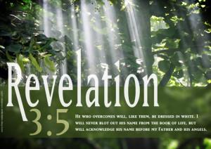 Bible Verse Revelation 3:5 Overcome Christian HD Wallpaper