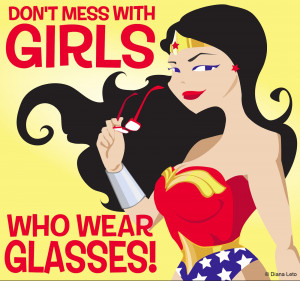 Don't mess with girls who wear glasses!