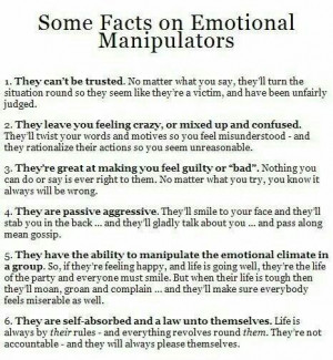 Emotional manipulators