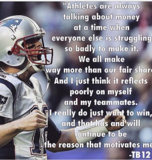 ... Patriot Way, best embodied in this quote from TB12 #Patriots (h/t @