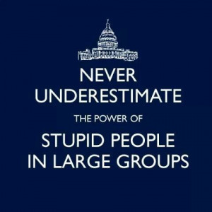Stupid people in large groups aka GOP
