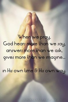 god answers prayers we just have to trust him more god answers ...