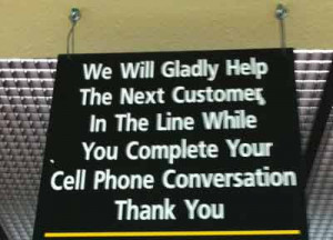Cell phone etiquette and bad manners