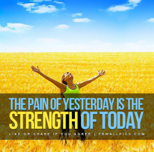 The Pain of Yesterday Quote Picture