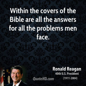 Within the covers of the Bible are all the answers for all the ...