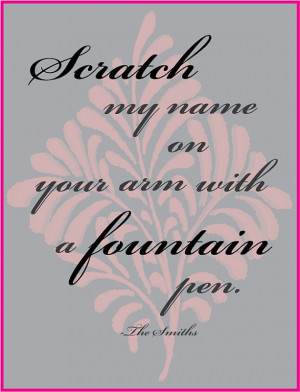 THE SMITHS Lyrics Poster- Typography Art Print