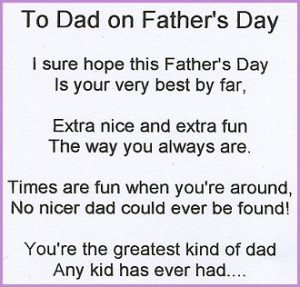 Funny Father's Day Poems 001