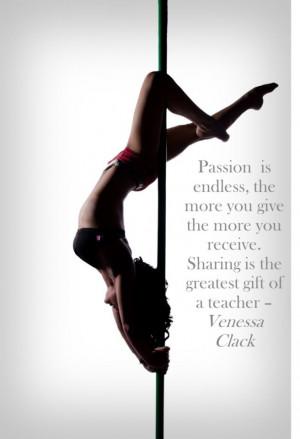 Venessa Clack quote, pole passion.