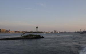 Thant Island looking back towards Brooklyn