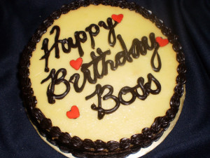 Choco Paradise Cheesecake - Happy Birthday Boss