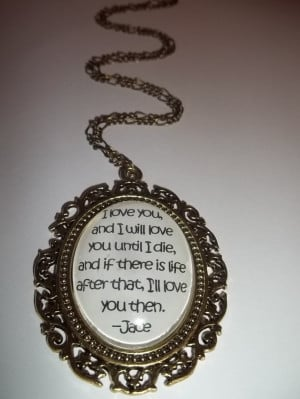 Jace and Clary City of Bones Mortal Instruments Book Quote Pendant ...