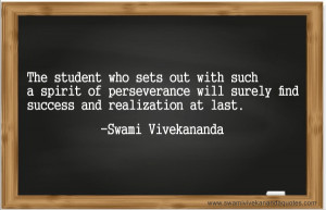 The student who sets out with such a spirit of perseverance will ...