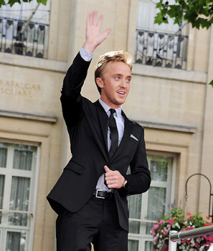 Actor Tom Felton arrives at the World Premiere of 'Harry Potter And ...