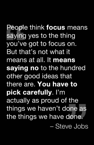 quote about focus