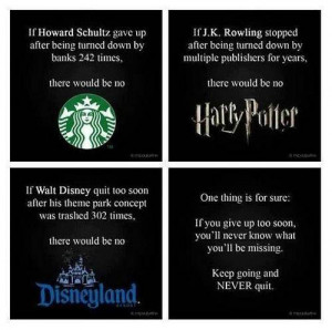 Never Give Up - Thoughtfull quotes Picture