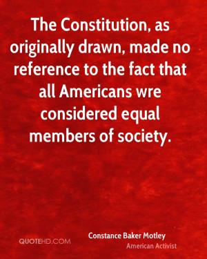 Constance Baker Motley Society Quotes