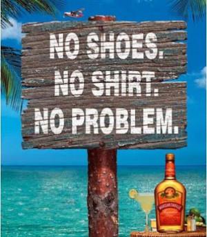No shoes...check, no shirt...check....no pants...check....NO PROBLEM ...