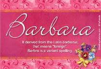 Tarjetas postales: Barbara