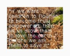 David Sobel, Environmental Educator and author of Beyond Ecophobia ...
