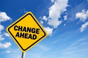 8157753-change-ahead-warning-sign