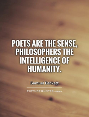 Humanity Quotes Intelligence Quotes Poets Quotes Samuel Beckett Quotes