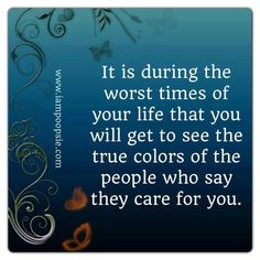 ... count on fair weather friends to be there for you, no matter what