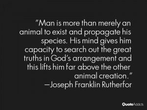Joseph Franklin Rutherfor Quotes