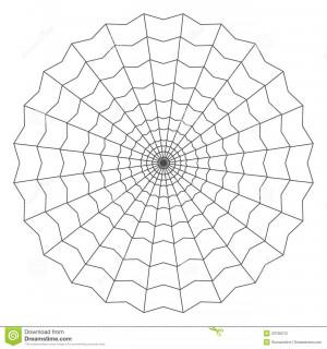 Cobweb isolated on white vector illustration.