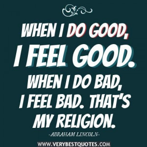 Feel good quotes religion quotes