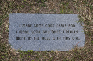 Appropriate epitaphs...